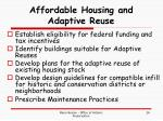 affordable housing and adaptive reuse