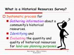 what is a historical resources survey