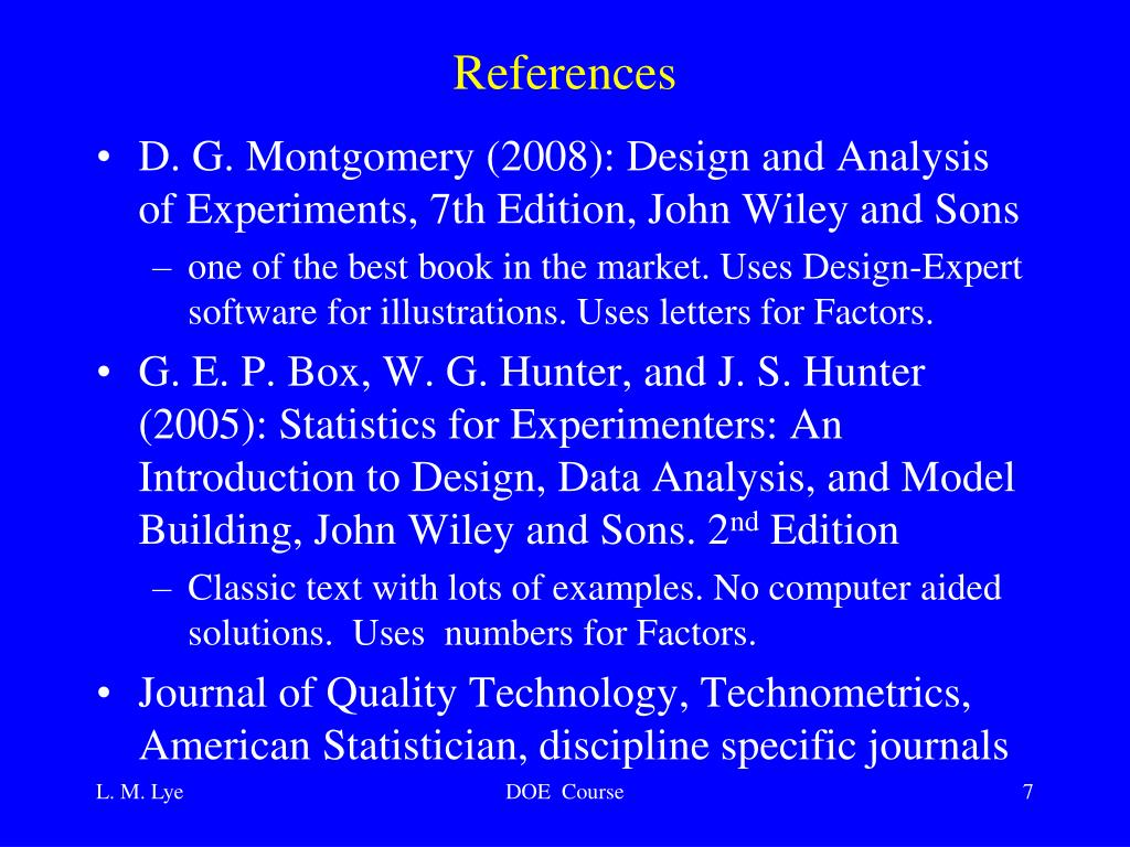 Ppt Design And Analysis Of Multi Factored Experiments Engineering 9516 Powerpoint Presentation Id 6804851