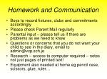 homework and communication1