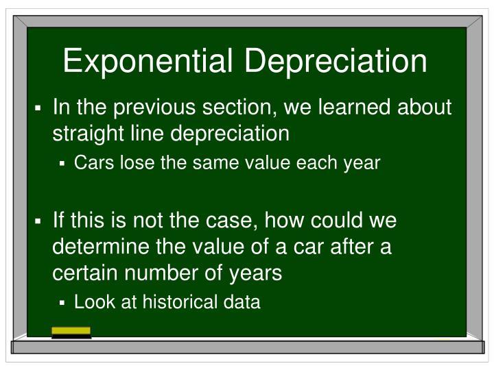 Exponential depreciation1