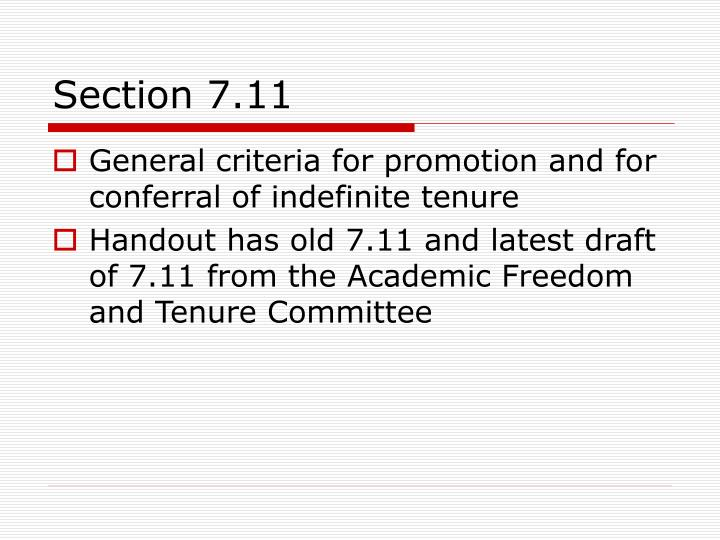 Section 7.11