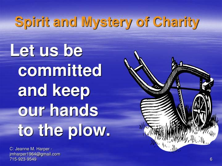 Spirit and Mystery of Charity