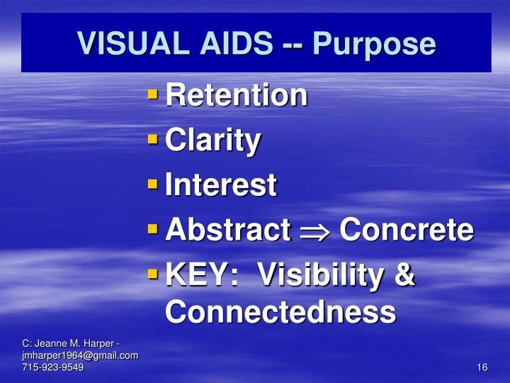 VISUAL AIDS -- Purpose