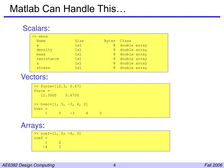 Matlab Can Handle This…