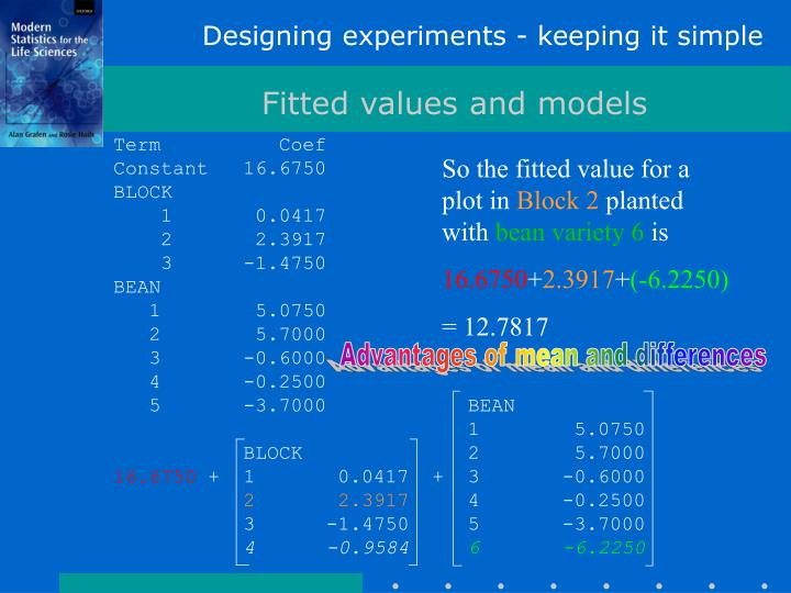 Designing experiments - keeping it simple