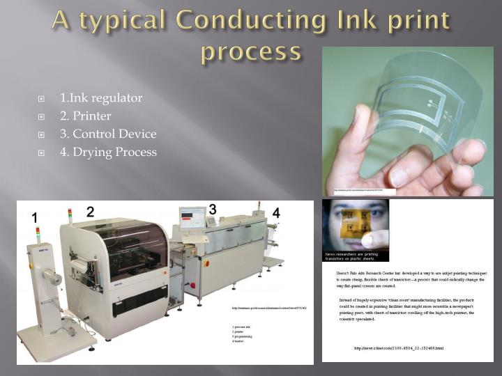 A typical Conducting Ink print process