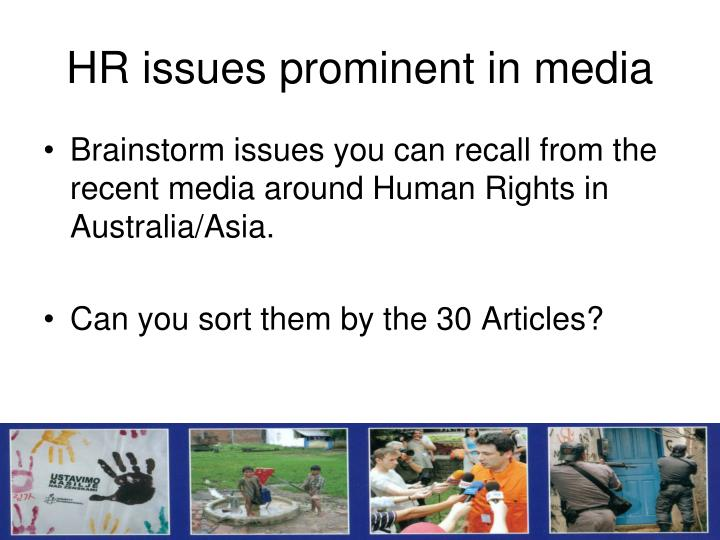 HR issues prominent in media