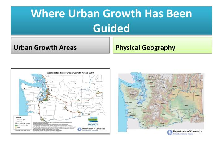 Where Urban Growth Has Been Guided