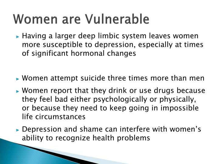 Women are Vulnerable