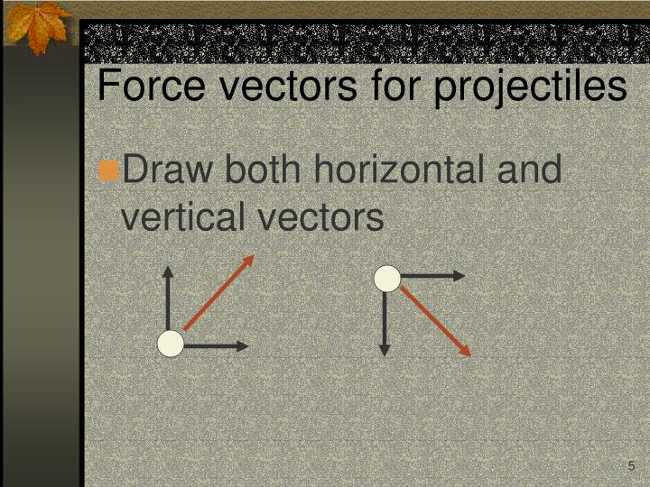 Force vectors for projectiles