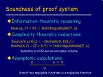 soundness of proof system