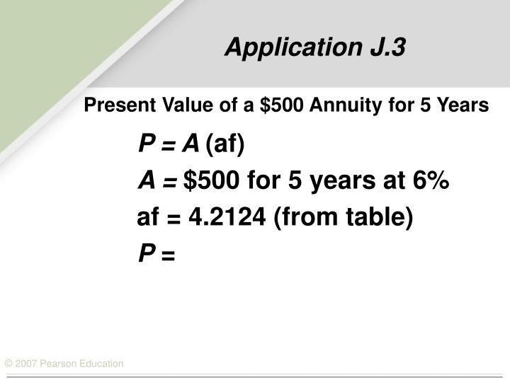 Application J.3