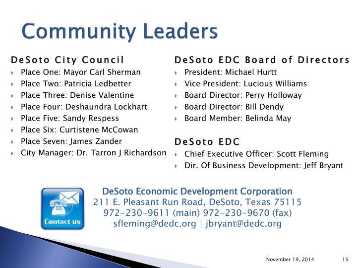 Community Leaders