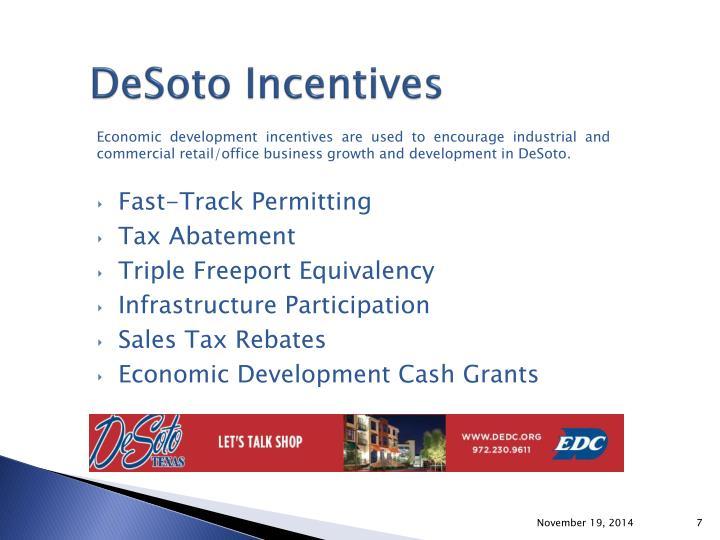 DeSoto Incentives
