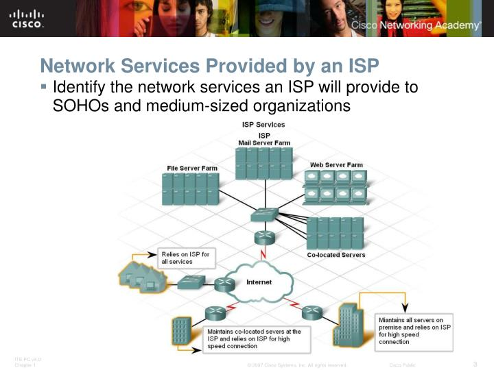 Network services provided by an isp