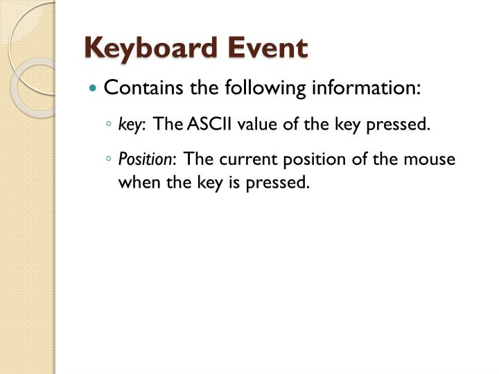 Keyboard Event