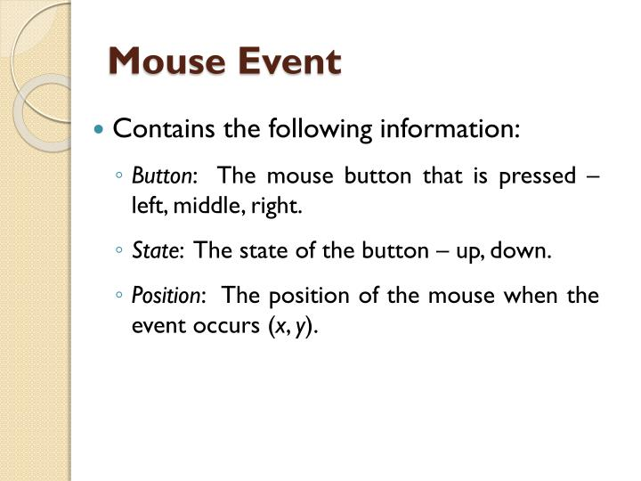 Mouse Event