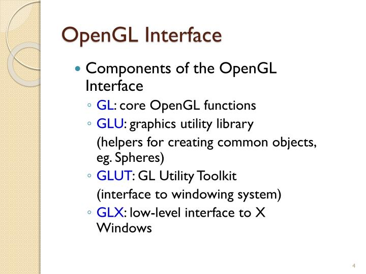 OpenGL Interface