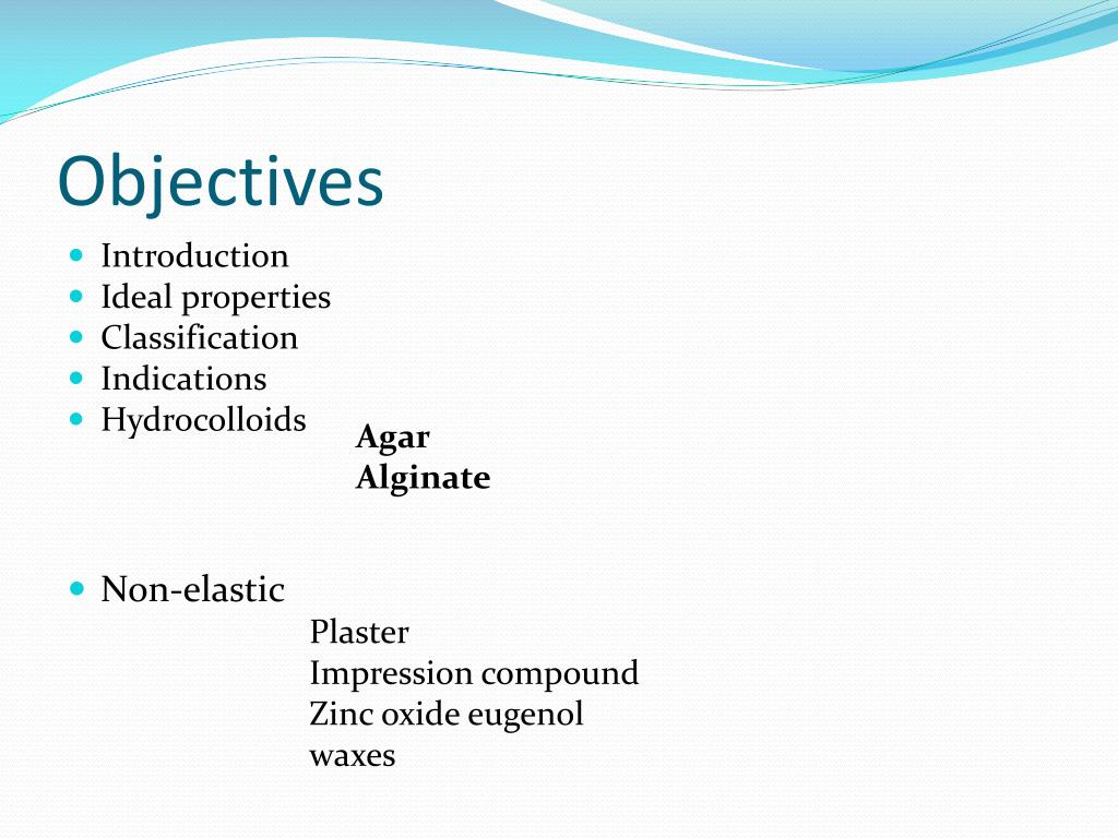 PPT - Impression Materials PowerPoint Presentation - ID:6806136