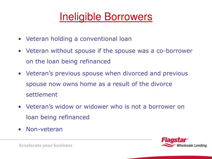 Veteran holding a conventional loan