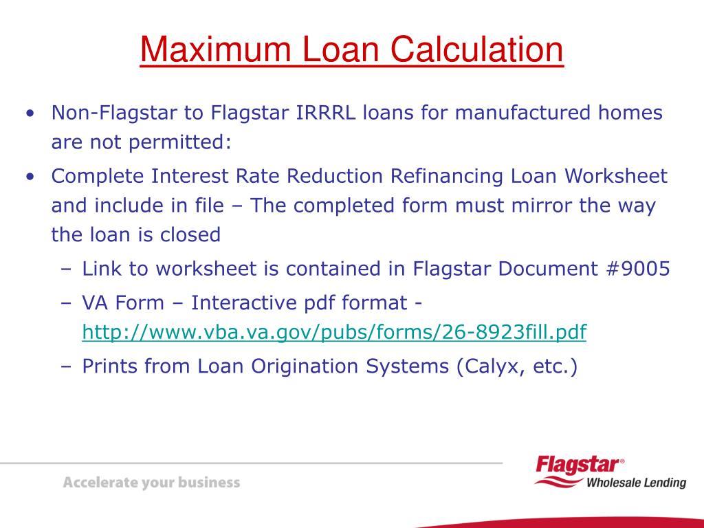 Ppt Presenting Va Interest Rate Reduction Refinancing