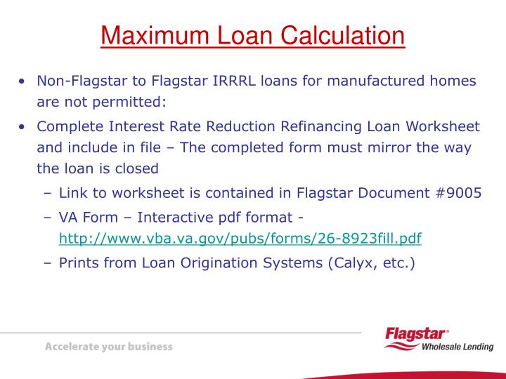 Non-Flagstar to Flagstar IRRRL loans for manufactured homes are not permitted: