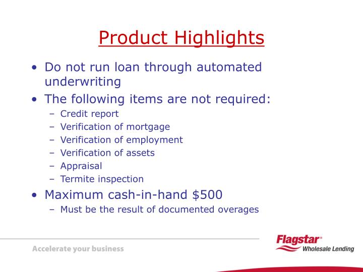 Do not run loan through automated underwriting