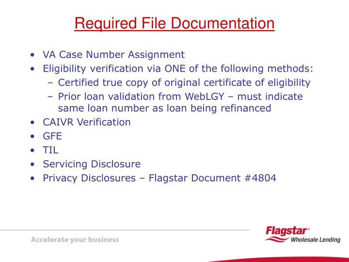 VA Case Number Assignment