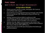 model hukum ala d black dan dragan milovanovich