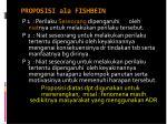 proposisi ala fishbein