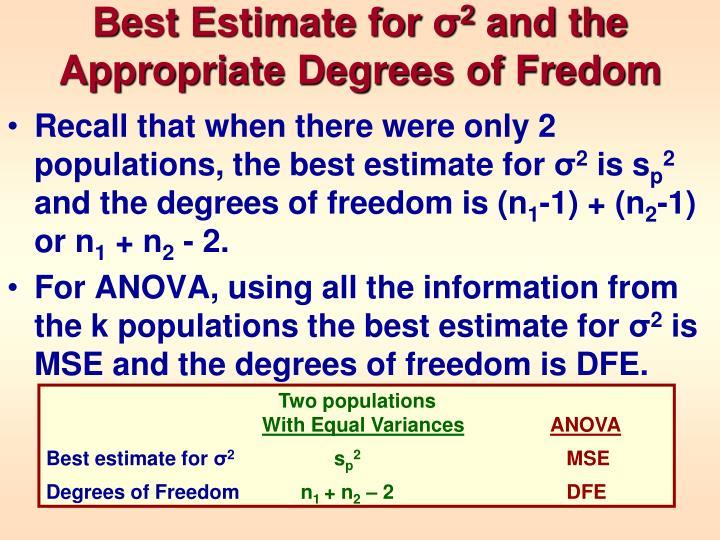 Best Estimate for