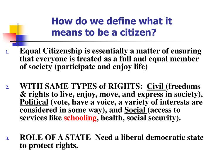 How do we define what it means to be a citizen?