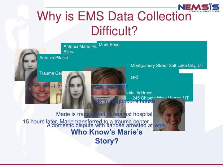 Why is ems data collection difficult