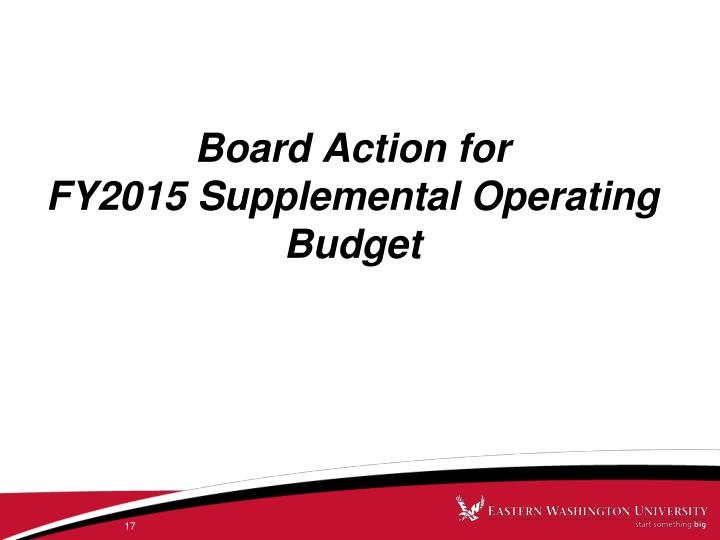Board Action for