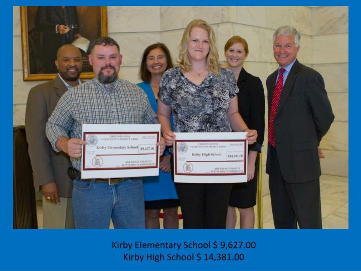 Kirby Elementary School $ 9,627.00