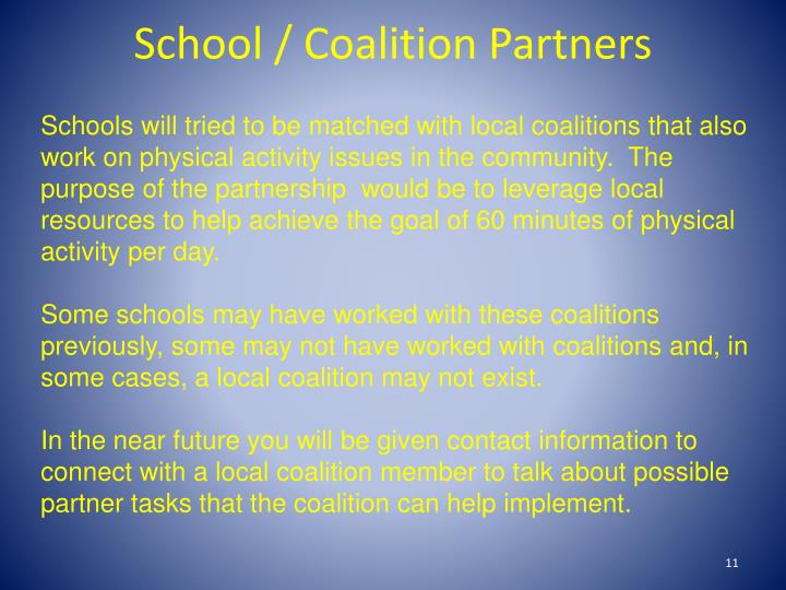 School / Coalition Partners