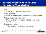 factors associated with child poverty in west virginia