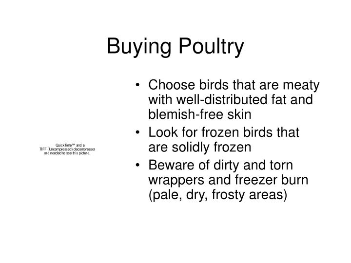 Buying Poultry