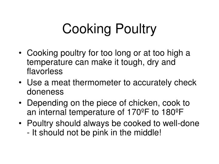 Cooking Poultry