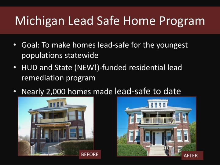 Michigan lead safe home program