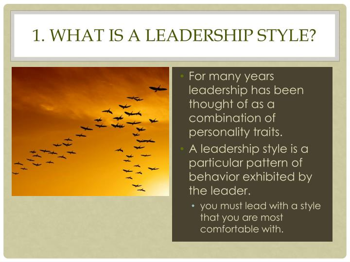 1 what is a leadership style