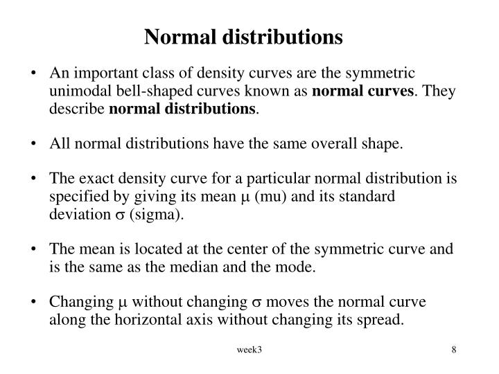 Normal distributions