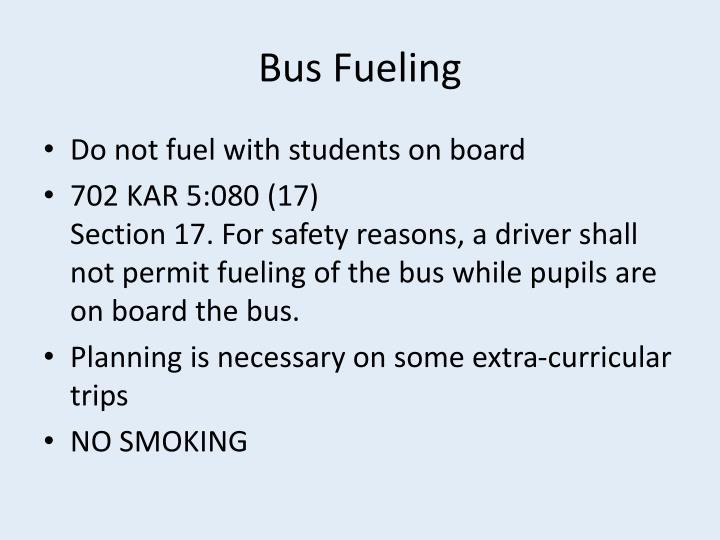 Bus Fueling