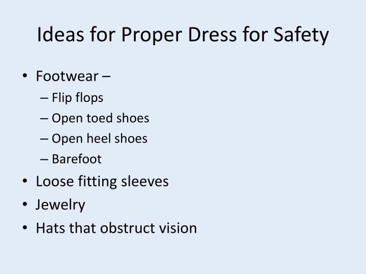 Ideas for Proper