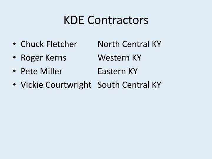 Kde contractors