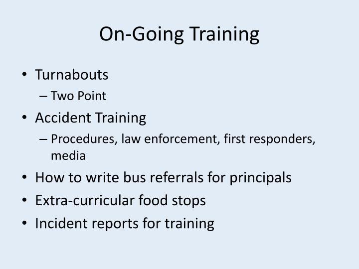 On-Going Training