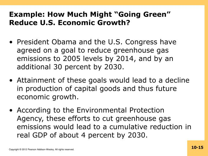 "Example: How Much Might ""Going Green"" Reduce U.S. Economic Growth?"