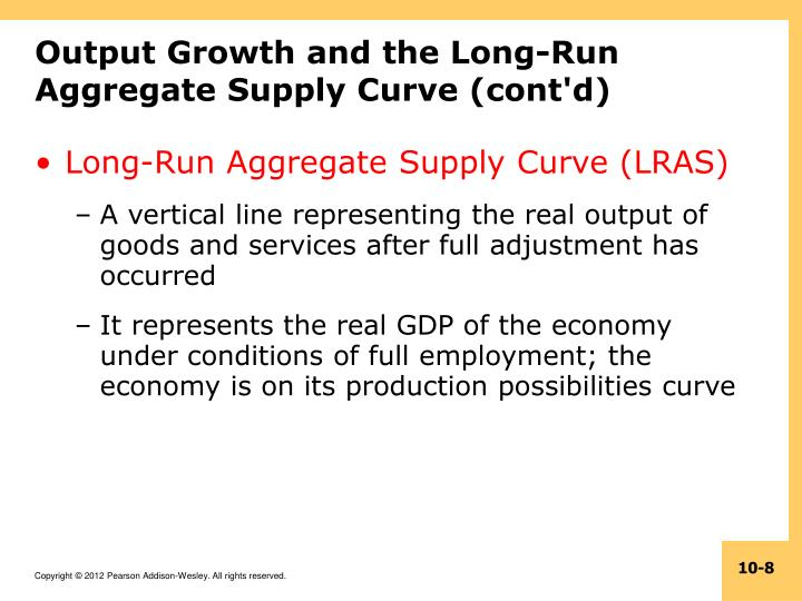 Output Growth and the Long-Run Aggregate Supply Curve (cont'd)