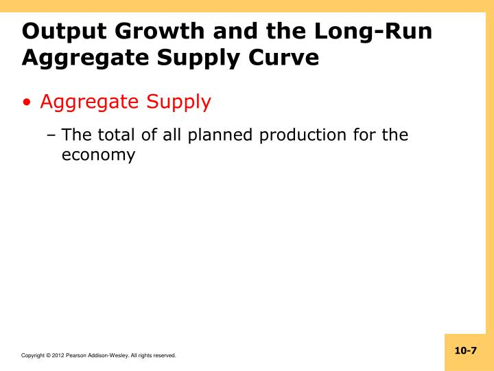 Output Growth and the Long-Run Aggregate Supply Curve
